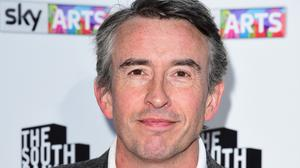 Steve Coogan had to spend the night in his car during a trip to Conistion in Cumbria because of Storm Desmond