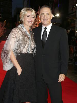 Emma Thompson and Tom Hanks at the gala screening of Saving Mr Banks, the closing film of the 57th BFI London Film Festival at Odeon Leicester Square, London