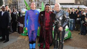 Robert Llewellyn (right), Chris Barrie (left) and Danny John-Jules from Red Dwarf