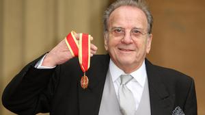 Playwright Sir Ronald Harwood, pictured receiving his knighthood in 2011, has spoken about comments made at a special screening of The Dresser
