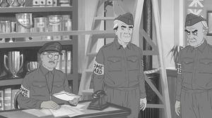 An animation still from a lost episode of Dad's Army (BBC/PA)