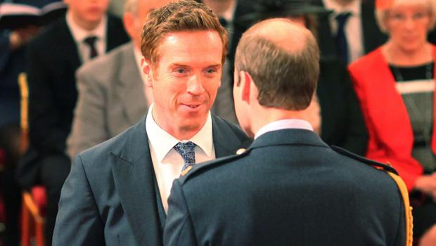 Damian Lewis received his OBE from the Duke of Cambridge