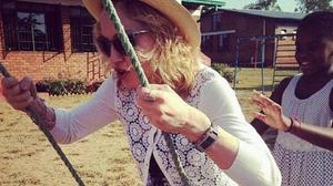 Madonna plays with daughter Mercy James in Malawi (Madonna/Twitter)