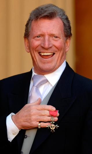 Pride: Coronation Street actor Johnny Briggs after collecting an MBE from the Queen at Buckingham Palace in 2007
