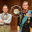 Jason Donovan and Raymond Coulthard on stage at the Grand Opera House after the stage production of the Oscar-winning film The King's Speech began its run in Belfast last night