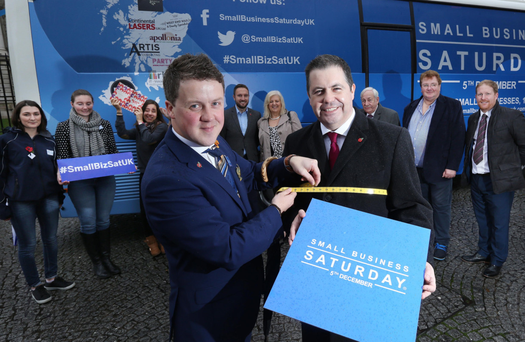 Glyn Roberts of Retail NI was joined by Chris Suitor, owner of Suitor Menswear, to promote one of its most popular retail campaigns, 'Small Business Saturday UK', to encourage consumers to 'shop local' and support small traders