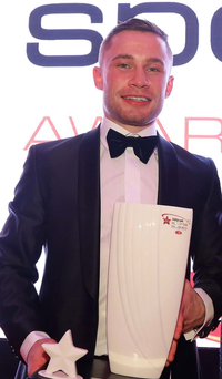 Prize fighter: Carl Frampton with his Telegraph award