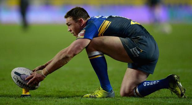 On tee: Kevin Sinfield has been a star performer for Leeds Rhinos and has earned a SPOTY nomination
