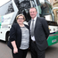 In it together: Caroline McComb with Northern Ireland manager Michael O'Neill