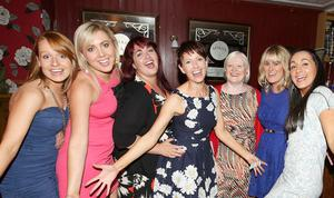White's Tavern. pictured: Enjoying her Hen Party was Paula O'Kane with friends Katrina Kelly, Sinead Boyle, Mairead Bell, Gail Brown, Maura McRory and Rosie Dempsey 1708JC13