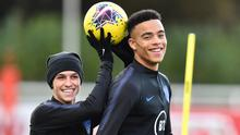 In hot water: Phil Foden (far left) and his young England team-mate Mason Greenwood