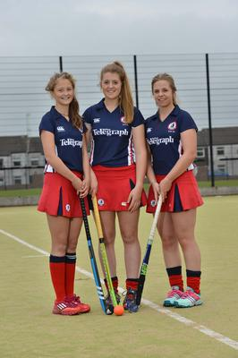 Ulster under 16 Squad  left-right  Sophie McDowell, Rebecca McConnell and Ellie Nugent