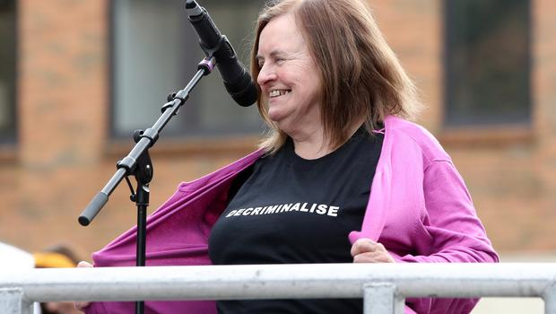 Press Eye - Belfast - Northern Ireland - 7th September 2019 -  Rally for Choice in Belfast City Centre. Photo by Declan Roughan / Press Eye.  Speaker Bernadette McAliskey pictured at Writers Square, Belfast