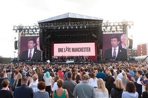 Ariana Grande's One Love Manchester tribute gig in aid of victims of the Manchester Arena terror attack. (Dave Hogan for One Love Manchester/PA)
