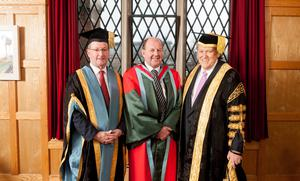 Northern Irelands first Regius Professorship has been bestowed upon Queens Universitys Professor John McCanny FRS FREng today (Thursday 8 December). The prestigious award was conferred by the Chancellor, Thomas Moran.   Professor McCanny is Director of the Universitys Institute for Electronics, Communications and Information Technology (ECIT), which is working to achieve a step change in Electronics and Computer Engineering research in order to address some of the key technological and ethical challenges facing society today; these include cybersecurity.  The esteemed award has been granted by the Sovereign to recognise exceptionally high quality research.