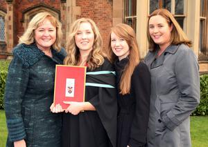 Mandatory Credit - Picture by Freddie Parkinson/Press Eye © Thursday 8th December 2016 Graduations take place at Queens University in Belfast. Janice, Ailbhe, Therese and Miriam McKeith from Ballymena.