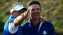 Europe's Ian Poulter and Justin Rose.