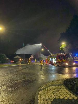 The fire broke out in a shed on the Scarva Road in Banbridge