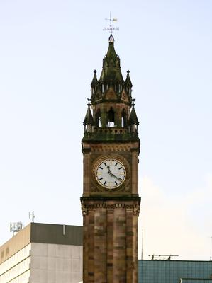 Credit - Kevin Scott / Presseye  Belfast, UK - January 03 , Stick in time - Pictured is the Albert Clock in Belfast that has stopped ticking at 11:21 sometime over the weekend. January 03, 2016 ( Photo by Kevin Scott / Presseye )