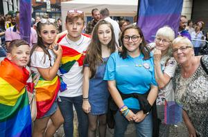 People on Union Street for PRIDE. Saturday 5th August 2017 Picture by Liam McBurney/RAZORPIX