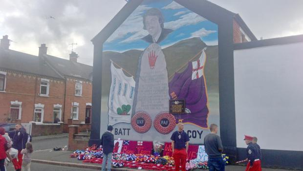 Parade commemorating Brian Robinson - Shankill Road, Belfast