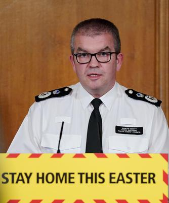 Chairman of the National Police Chiefs' Council Martin Hewitt said there have been only a small number of errors by police enforcing new coronavirus lockdown laws (Pippa Fowles/10 Downing Street/Crown Copyright)