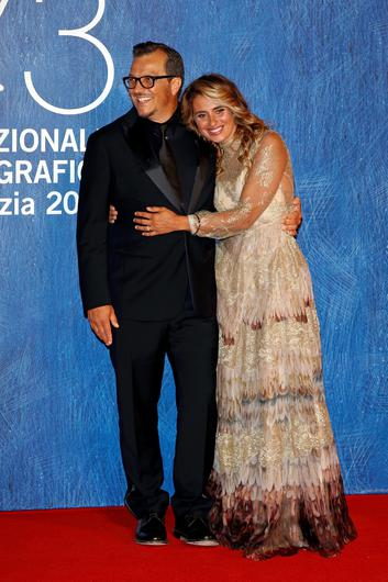 VENICE, ITALY - SEPTEMBER 01:  Gabriele Muccino and Angelica Russo attend the premiere of 'Summertime' during the 73rd Venice Film Festival at Sala Giardino on September 1, 2016 in Venice, Italy.  (Photo by Andreas Rentz/Getty Images)