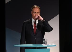 Nigel Dodds (Deputy Leader of DUP) during  A television debate from the five main parties which was recorded at UTV in Belfast. Photo: Pacemaker