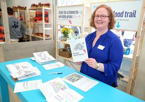 Press Eye - Belfast - Northern Ireland - 15th May 2019  First day of the Balmoral Show, in partnership with Ulster Bank.  Pictured at Balmoral Park, outside Lisburn, is Ulster Banks Catherine McMullan at the start of Ulster Bank's Food Trail .  Customers can visit different stands in the food hall getting their cards stamp which can be entered into a free draw.    Picture by Jonathan Porter/PressEye