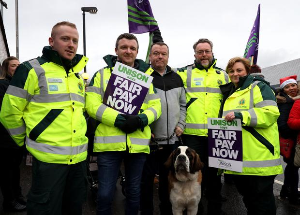 Northern Ireland nurses on strike. 18/12/2019 Photo Laura Davison/Pacemaker Press
