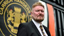 In charge: Niall Currie is enjoying his spell as Carrick Rangers manager