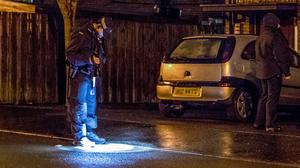 Police at the scene of a shooting incident in the Ardglen Place area of Ardoyne on February 15th 2020 (Photo by Kevin Scott for Belfast Telegraph)