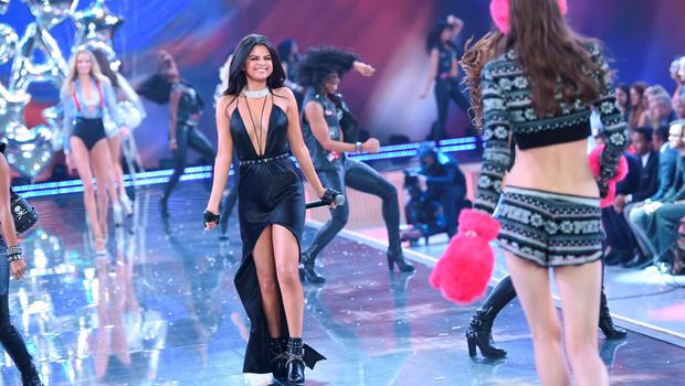 Singer Selena Gomez performs during the 2015 Victoria's Secret Fashion Show at the Lexington Armory on Tuesday, Nov. 10, 2015, in New York. The Victorias Secret Fashion Show will air on CBS on Tuesday, December 8th at 10pm EST. (Photo by Evan Agostini/Invision/AP)