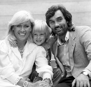 Angie and husband George Best with their son Calum in 1984