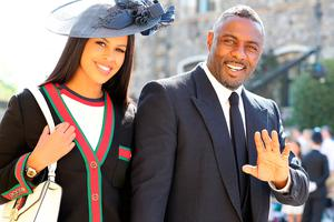 Idris Elba and Sabrina Dhowre arrives at St George's Chapel at Windsor Castle for the wedding of Meghan Markle and Prince Harry. PRESS ASSOCIATION Photo. Picture date: Saturday May 19, 2018. See PA story ROYAL Wedding. Photo credit should read: Gareth Fuller/PA Wire
