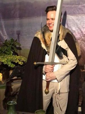 Olly Murs at the Game of Thrones Banquet