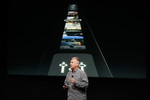 CUPERTINO, CA - OCTOBER 27: Apple Senior Vice President of Worldwide Marketing Phil Schiller introduces the all-new MacBook Pro during a product launch event on October 27, 2016 in Cupertino, California. Apple Inc. is expected to unveil the latest iterations of its MacBook line of laptops (Photo by Stephen Lam/Getty Images)