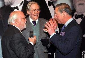 File photo dated 19/2/12008 of the Prince of Wales  with Lord Attenborough (left) and actor Peter O'Toole at Clarence House. Lord Attenborough,  the acclaimed actor/director died at lunchtime yesterday aged 90, his son Michael told the BBC.  PRESS ASSOCIATION Photo. Issue date: Monday August 25, 2014. See PA story DEATH Attenborough. Photo credit should read: Fiona Hanson/PA Wire