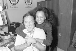 Sir Terry Wogan in 1981 with Diana Ross when she was a guest on his early morning BBC Radio 2 programme