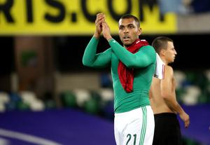 Northern Ireland striker Josh Magennis could have a fight on his hands to start Thursday's Euro 2020 play-off final