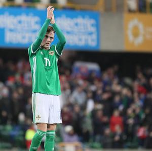 Mark Sykes is back in the Northern Ireland squad.