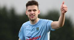 Ballymena's Adam Lecky netted twice as his side kept up the pressure at the top of the Danske Bank Premiership.