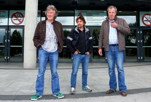 Picture - Kevin Scott / Presseye  Thursday 21st May 2015 -  Hammond May And Clarkson   Pictured is Richard Hammond, Jeremy Clarkson and James May as they arrive at the Odyssey Arena in Belfast  Picture - Kevin Scott / Presseye