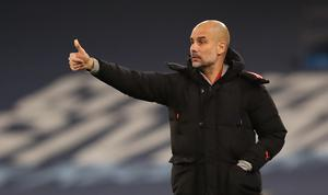 Manchester City manager Pep Guardiola, who turns 50 on Monday, saw his side climb up to second in the table (Clive Brunskill/PA)
