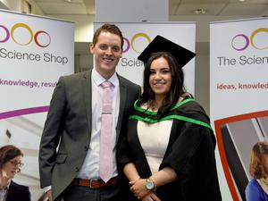 Graduating from Ulster University today is Marie Donaghy with boyfriend Ronan Lawless Pic by Harrison Photography