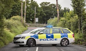 Police at the scene of a security alert at East Belfast GAA at Henry Jones' Playing Fields in the Castlereagh Hills on August 6th 2020 (Photo by Kevin Scott for Belfast Telegraph)