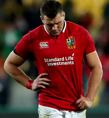 Colossal shift: CJ Stander was out on his feet at the end. Photo: James CrombieINPHO