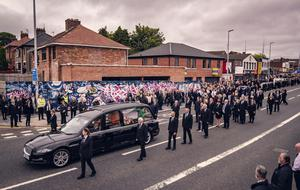 The funeral of Bobby Storey takes place in Andersonstown, west Belfast on June 30th 2020 (Photo by Kevin Scott for Belfast Telegraph)