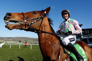 CHELTENHAM, ENGLAND - MARCH 10:  Ruby Walsh riding Faugheen wins The Stan James Champion Hurdle at Cheltenham racecourse on March 10, 2015 in Cheltenham, England. (Photo by Alan Crowhurst/Getty Images)