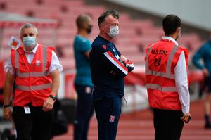 Tough viewing: Michael O'Neill before Stoke got 'bullied' against Boro